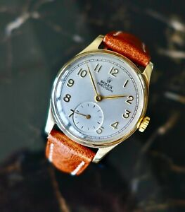 A BEAUTIFUL VINTAGE 9ct SOLID GOLD 1948 MID-SIZE ROLEX PRECISION WRISTWATCH
