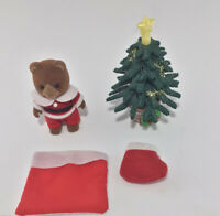 Calico critters/sylvanian families Santa Clause With Xmas Tree & Stocking