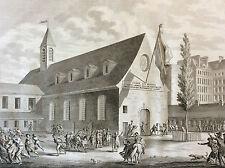 Révolution française cloture de la salle des Jacobins eau-forte 1804 Malapeau