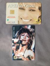 Amsterdam ArenA kaart gebruikt & Prepaid Phonecard MINT USA - TINA TURNER