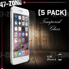 "For Apple iPhone 6 6S 4.7"" Clear Tempered Glass Screen Protector 5 PC"