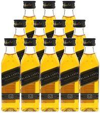 Johnnie Walker Black Label 12 Jahre 12x 0,05l-Schottischer Blended Scotch Whisky