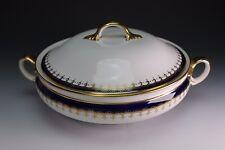 Aynsley China Laurette Cobalt Blue Gold 8213 Covered Casserole - Smooth Border