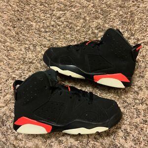 Air Jordan Retro 6 Black Infrared 2019 Sneakers Baby Size 12C