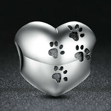 NEW 100% AUTHENTIC 925 STERLING SILVER PAW PRINTS CHARM