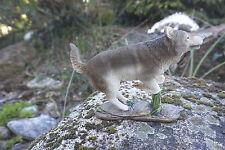 MO0492   FIGURINE  STATUETTE FAMILLE   LOUP LOUVE   ANIMAL SAUVAGE