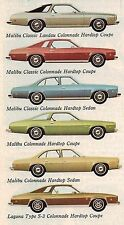 1974 Chevy CHEVELLE Brochure / Catalog: MALIBU,LAGUNA,S-3,CLASSIC,