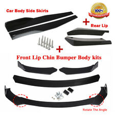 Universal Glossy Black Front Bumper Side Skirt Rear Lip For Toyota Corolla Fits Toyota Yaris