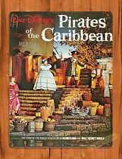 Tin Sign Walt Disney Pirates Of The Carribean Movie Ride Art Poster Attraction