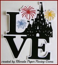 DISNEY LOVE CASTLE title paper piecing for Premade Scrapbook Pages by Rhonda