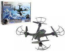 DRONE RADIOCOMMANDE K200C AVEC CAMERA 720P ALTIMETRE FLIP 360 6 AXES CARTE SD