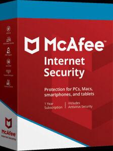 McAfee Internet Security 2020 10 Geräte, 1 Jahr, Download