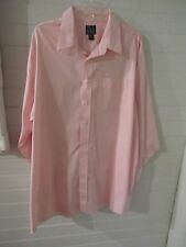 Joseph A. Bank pinpoint oxford 100% cotton dress shirt Traveler pink 18/33