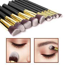 10 un. estilo Kabuki maquillaje cepillo conjunto Cara Polvo Base Rubor estilo 2