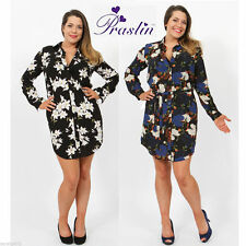 Floral Long Sleeve Shirt Plus Size for Women