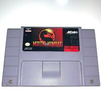Mortal Kombat - Super Nintendo SNES Game - Tested - Working - Authentic!