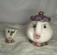 Kato Kogei Mrs Potts Chip Tea Pot Cup Disney Beauty and the Beast Set