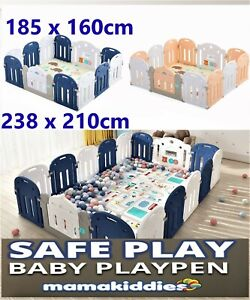 Mamakiddies Baby Playpen Play Pen Kids Activity Centre Safety Gate Play Area