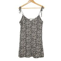 Luck And Trouble Womens Animal Print Black Mini Dress Size 10