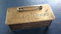 Baby's Friend Sterling Silver Hinged And Footed Box