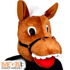 Caballo Máscara Adultos De Disfraces De Animales De Granja Para Hombre para mujer Western Accesorio Disfraz