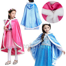 For Disney Princess Cosplay Party Fancy Dress Hooded Shoulder Cape Cloak Costume
