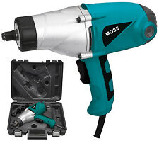 "MOSS 450NM TORQUE 1000W ELECTRIC 1/2"" IMPACT WRENCH 230 Volts CARRY CASE"