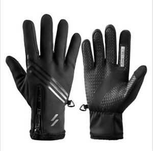 Bike Glove Winter Thermal Warm Full Finger Cycling Glove Touch screen Size M-XXL