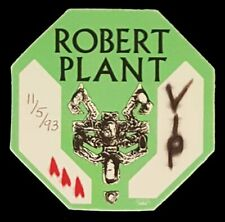 1993 Robert Plant *Vip* Backstage Pass *Fate Of Nations* Free Shipping!