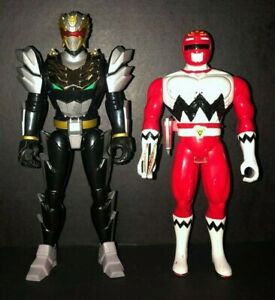 Power Rangers Megaforce Electronic Robo Knight and Lost Galaxy Red Ranger Figure