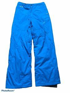 spyder girls' blue nylon snow boarding pants size 20 inseam 28