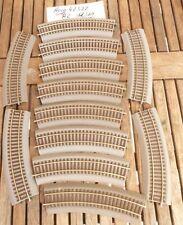 Roco 42522 Konvolut 12 x Roco Line Gleise gebogen R 2 mit Bettung, gut erhalten