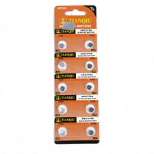 New 10pcs TIANQIU AG0 379A SR521 379 618 SR63 521 SR521SW Alkaline Watch Battery
