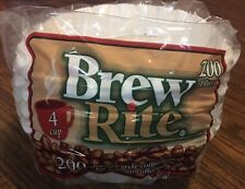"Brew-Rite 4 Cup Coffee Filters 200 Ct. Basket Disposable Filters 3"" Base"