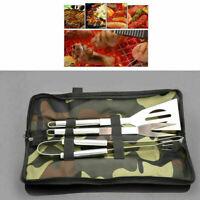 Ensemble d'outils de Barbecue Acier Inoxydable Ustensiles avec Sac de Camouflage
