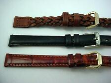 3 Band Lot of Vintage Kreisler Ladies 12mm Leather Watch Bands Long New Old Stck
