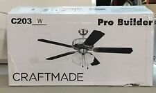 """Craftmade C203W Pro Builder 52"""" Ceiling Fan Light Kit Large Mouth Bass ~"""