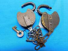 YALE PADLOCKS WITH CHAIN VINTAGE LOCKS WITH KEY