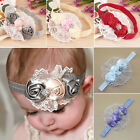 Rose Flowers Crystal Baby Elastic Hairband Hair Accessories for Girls