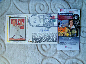 Yogi Berra signed first day postal cover gateway cachet autograph JSA