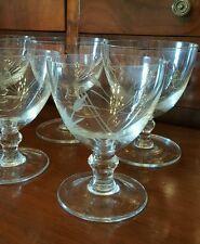 Bicchieri antichi fine 800 in  cristallo soffiato a mano,  molati a mano