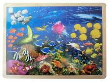 NEW Children's Wooden Ocean Sea Life PUZZLE 48 pce