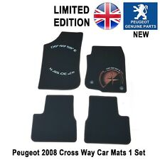 Peugeot 2008 Crossway Car Mat Carpet Black Limited Edition Genuine New 1 x Set