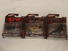 Hot Wheels Batman Lot of 3 1940s Batmobile Forever Batmobile Begins Tumbler