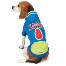 KONG Dog Pet Reflective Pullover Shirt Hoodie Safety Pocket Blue Size: LARGE