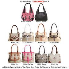 Wholesale Lot - 10 Women's Designer G-Style Handbags - Satchels & Hobo Bags