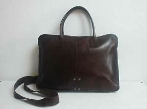 Smith & Canova Leather Shoulder Crossbody Bag Briefcase Satchel Brown