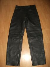 "AKITO LEATHER MOTORCYCLE MOTORBIKE TROUSERS SIZE WAIST 30"" X LEG 30"""