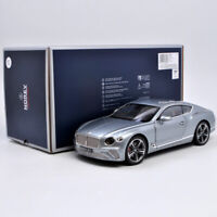 Norev 1:18 Scale Silver 2018 Bentley Continental GT Diecast Car Model Collection