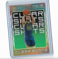 2019-20 Panini Illusions emerald parallel clear cut Clear Shots Stephen Curry